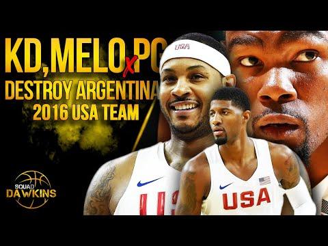 KD, Melo, PG x 2016 USA Team DESTROY Argentina | July 22, 2016 | SQUADawkins