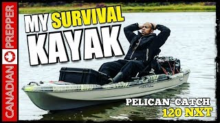KAYAKs vs CANOES for Bugout/ Survival: Pelican Catch 120 NXT