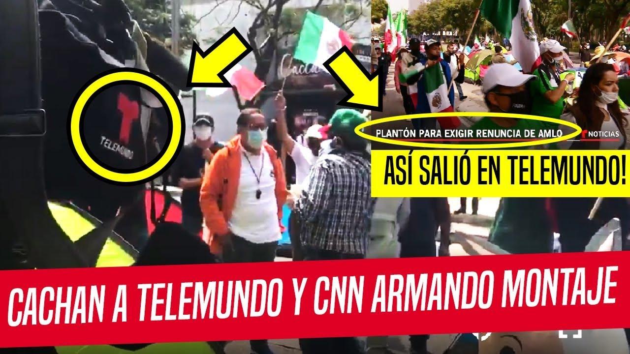 CACHAN YOUTUBERS A CNN Y TELEMUNDO ARMANDO MONTAJES EN PLANTÓN DE FRENAA