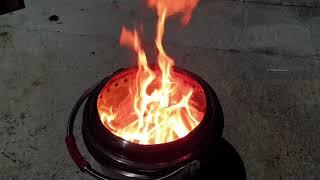 스텐찜통으로 만든 화로대 [DIY stove]