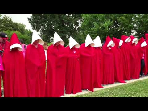 Planned Parenthood supporters protest outside the Capitol
