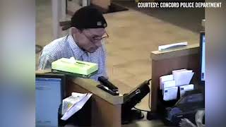 Concord Police release surveillance video from Wells Fargo bank robbery