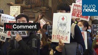 Hong Kong medical workers demand total closure of China border