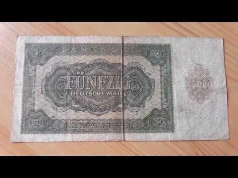 Old german papermoney note over 50 Deutsche Mark
