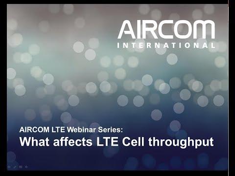 LTE Capacity Webinar - AIRCOM International