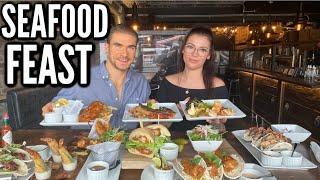 HUGE SEAFOOD CHEAT MEAL & MUKBANG | Surf n' Turf, Fish & Chips, Shrimp, Cat Fish & More!