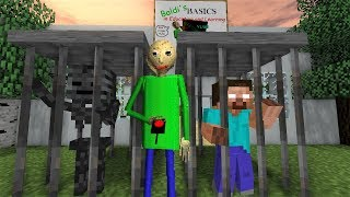 Monster School : HEROBRINE PRANKS BALDI - Horror Minecraft Animation