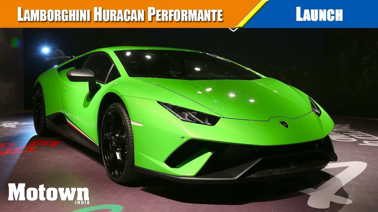 Lamborghini Huracan Performante Launch Price Motown India