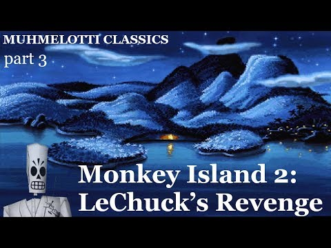 Monkey Island 2 - part 3 - library, fishing contest and famous pirate quotations