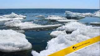 Lake Baikal in spring - Ice melting