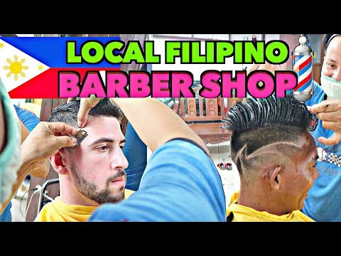 ★ AMAZING BARBER SKILLS PHILIPPINES ★ FOREIGNER HAVING HAIRCUT in PALAWAN!