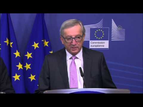 Press conference of European Commission's president Jean Claude Juncker