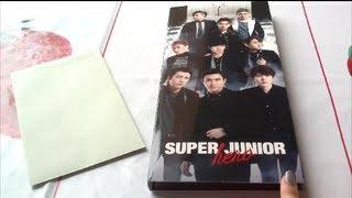 Unboxing Super Junior / 1st Album ファーストアルバム 「Hero」 [Limited Edition]