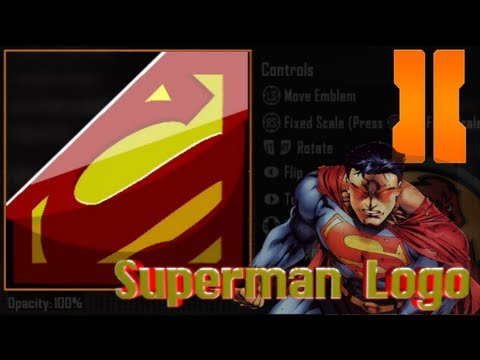 COD Black Ops 3 / BO2 / Advanced Warfare - Best Superman Logo Emblem Tutorial