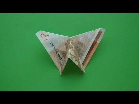 Geldscheine Falten Schmetterling Einfache Anleitung Fur