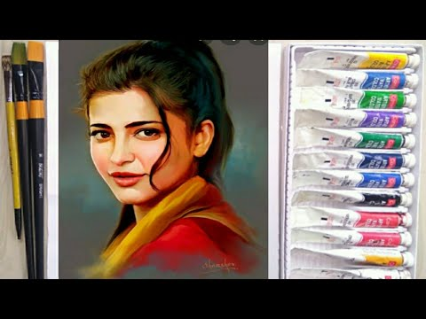 Shruti hasan realistic portraits/bollywood actress portraits/acrylic realistic portraits painting