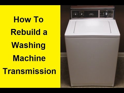 How To Repair a Washing Machine Transmission - DIY Kenmore Washer Schematic Diagram on