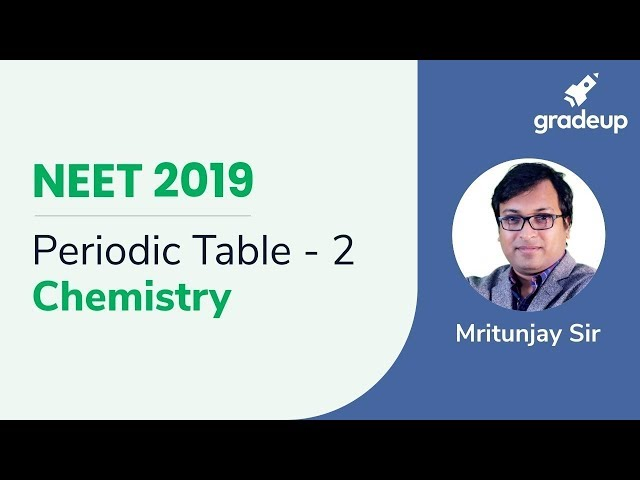 NEET Periodic Table - 2 | Chemistry | Boost Your Rank for NEET 2019