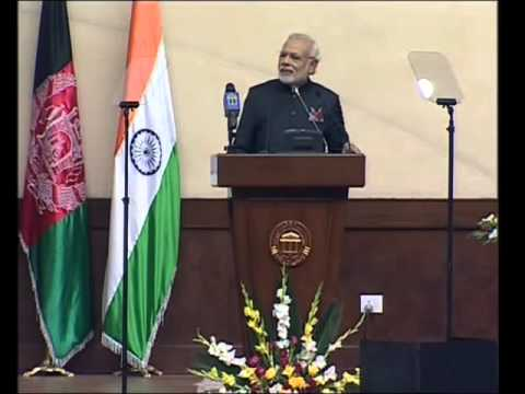 MODi Gets Standing Ovation in AfGHaniStan's ParLiament 4 His GREAT SpeecH
