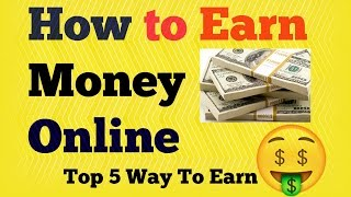 Hi friends in this video i have found out top 5 best easy ways to earn money online india by doing some research and effort. is me maine tariko se...