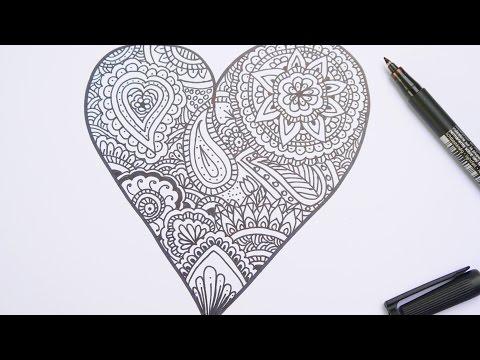 Mandala Zeichen Herz Speed Drawing Mandalas Selber