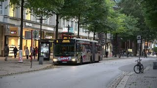 Hochbahn bussen | Mönckebergstraße te Hamburg | o.a. Mercedes-Benz CapaCity L & VanHool newAGG300