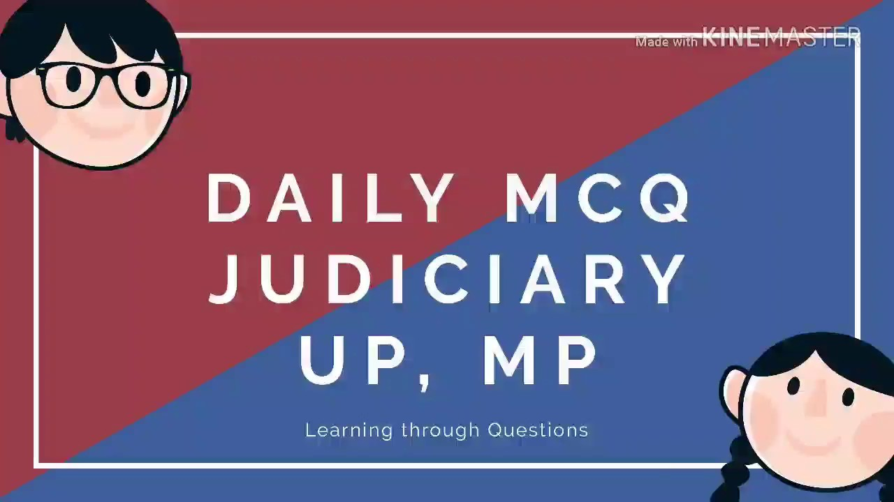 Daily MCQ Judiciary UP MP Bihar Judicial Services Law of Evidence CRPC  Important Questions