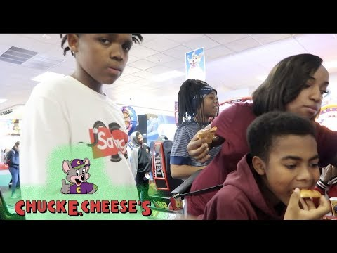 TOOK THE KIDS TO TURN UP AT CHUCKY CHEESE!!