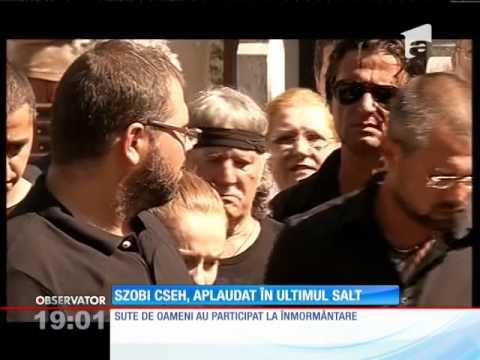 Szobi Cseh a fost înmormântat cu onoruri militare şi salve de tun