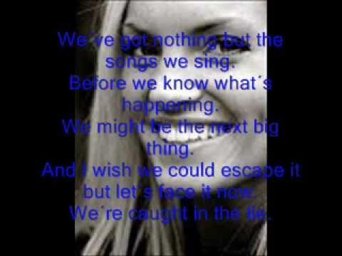 Caught In the Lie Little White Lie Lyrics