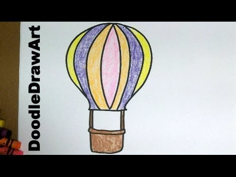 Drawing How To Draw Cartoon Hot Air Balloons  Easy Step By Step
