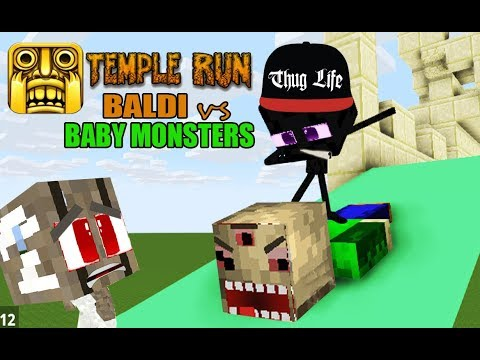 MONSTER SCHOOL : BALDI TEMPLE RUN CHALLENGE WITH BABIES - BEST MINECRAFT ANIMATION