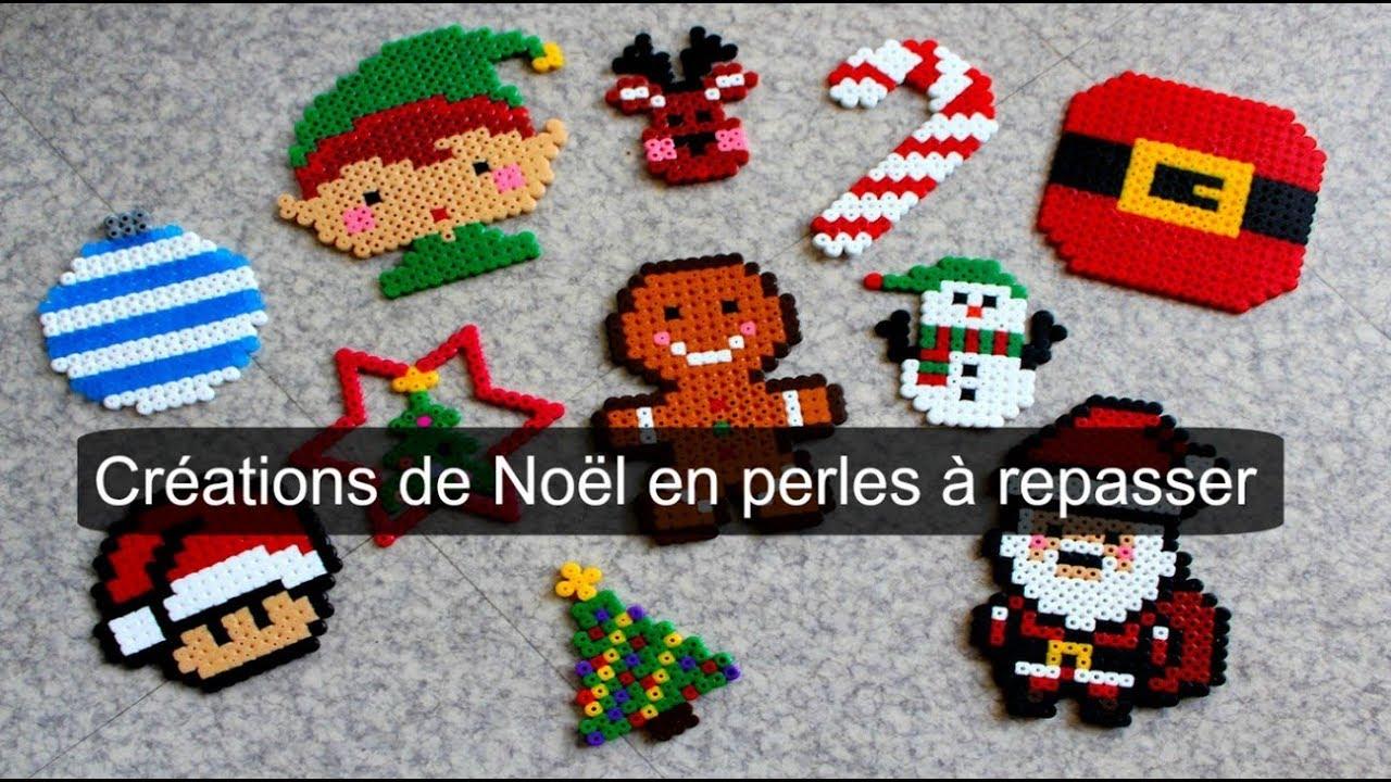 Créations De Noël En Perles à Repasser Perles Hama Youtube