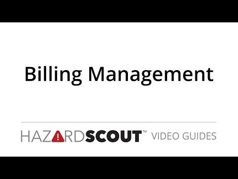 Billing Management: Hazard Scout Video Guides