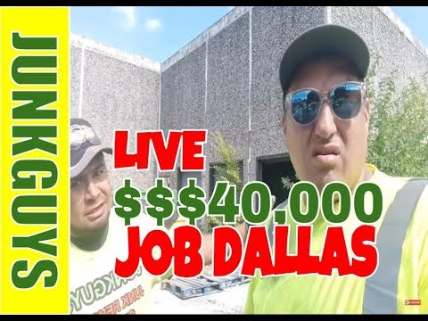 $40,000 Job In Dallas Texas commercial clean out of building / dfwjunkguys.com