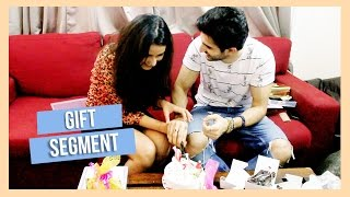 Sidhant Gupta and Jasmin Bhasin Receive Gifts from Fans.