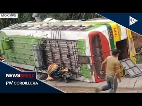 NEWS BREAK: 16 tattao, nadangran iti panakatumba ti bus sadiay Atok, Benguet