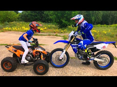 КВАДРИК или МОТОЦИКЛ!!!Test Drive The Cross Bike.Quad bike or MOTORCYCLE? - Видео приколы ржачные до слез