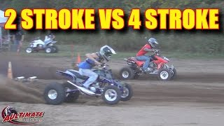 YAMAHA BANSHEE VS HONDA 450R...VS OTHERS...2 STROKE VS 4 STROKE