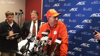 Clemson coach Dabo Swinney responds to NC State wanting a laptop investigation