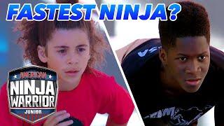 Is Nacssa Garemore the Fastest Ninja So Far?? | American Ninja Warrior Junior | Universal Kids