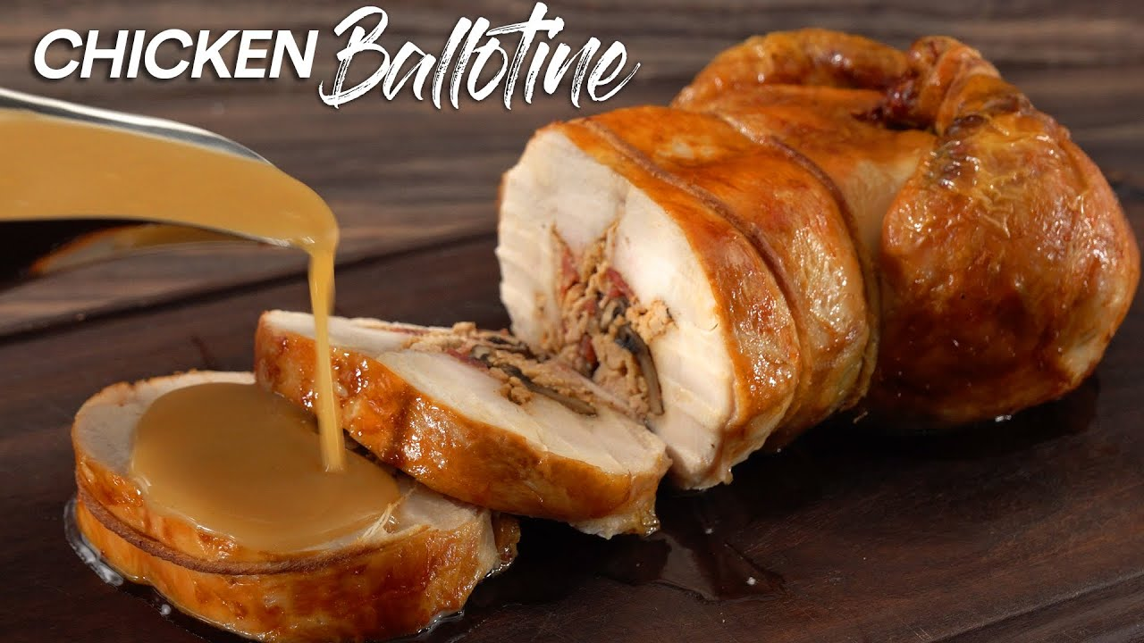 I tried to MASTER the FRENCH RECIPE Chicken Ballotine!