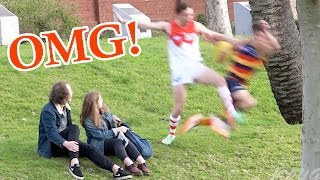 EPIC FOOTBALL KNOCKOUTS IN PUBLIC!