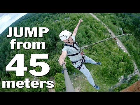 Очень страшный прыжок с высоты 45 метров