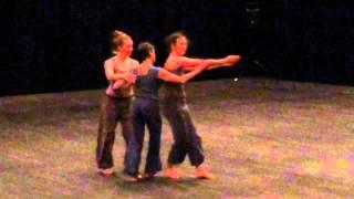 Contact Improvisation trio: in between