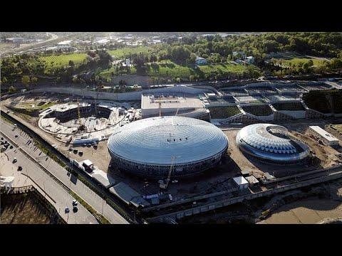 В Душанбе открыли Дворец тенниса и комплекс водных видов спорта