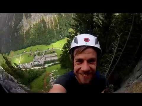 Klettersteig Interlaken : Via ferrata klettersteig mürren gimmelwald berner alpen youtube