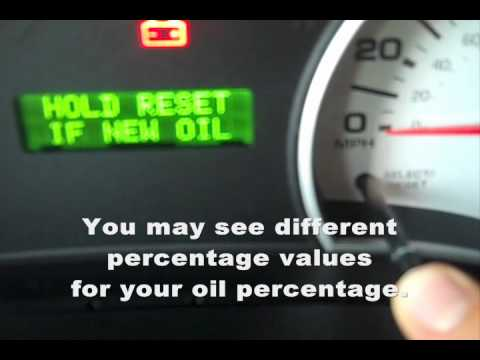 2007 Sport Trac Oil Reset How To