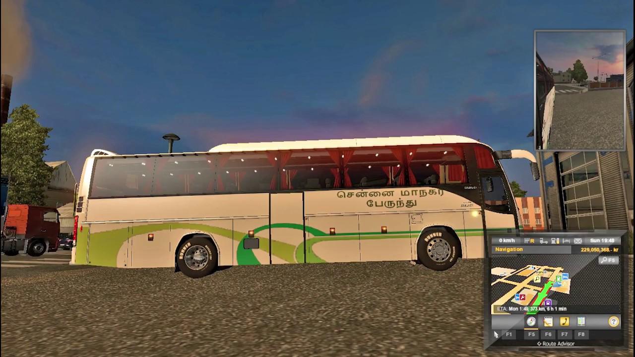 Eurotruck Simulator 2 Volvo B12B MTC Chennai Skin Download