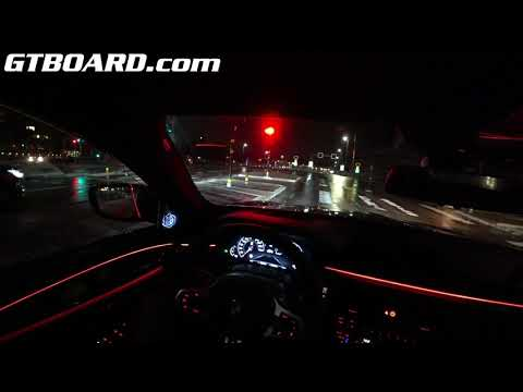 POV BMW M5 Competition Package NIGHT Wet Driving GREAT GRIP! XDrive Shines! [4k 60p]